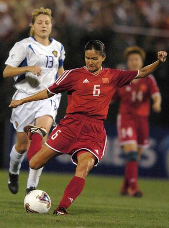 中国女足1 0俄罗斯 赵利红 弯弓搭箭