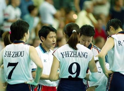 2002年8月31日晚(北京时间),在德国莱比锡举行的2002世界女排图片