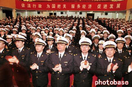 新闻频道 社会 社会要闻 社会掠影  宁波海关在喜迎国庆,喜庆建关25
