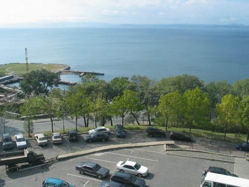 入住海参崴宾馆 俯瞰海滩