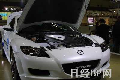 """图1:配备氢气转子引擎的""""RX-8 hydrogen RE""""-37届东京车展 马自高清图片"""