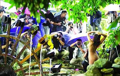 组图:广东人体艺术摄影对抗赛创多项记录