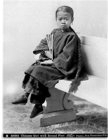 封建社会的小脚女人图片