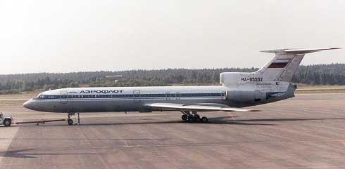 原苏联图波列夫设计局制造的图-154客机