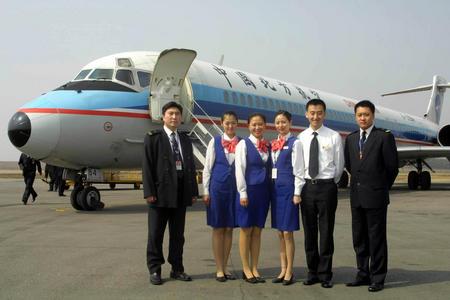 图文:南航开通北京--平壤往返航线
