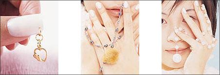滨崎步传授:指甲穿环法图