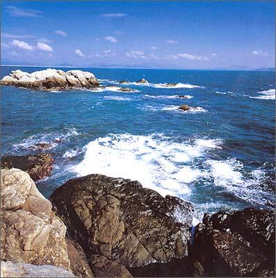海滩大海人文风景图片