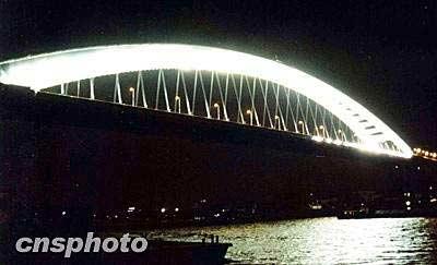 黄浦江上第六座大桥——卢浦大桥于今日通车(图片来源:中新网)-
