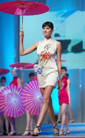 组图:2003新丝路世界模特大赛 旗袍展示