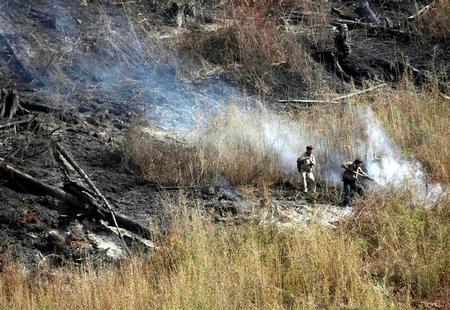 图文:甘肃达拉森林火灾得到控制~~4月18日